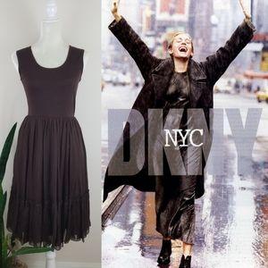 VTG 90's DKNY Silk Chiffon Dress